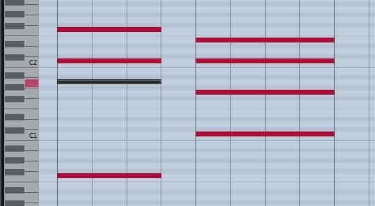 Cadence plagale, IV I, ici en Do majeur, Fa Do.