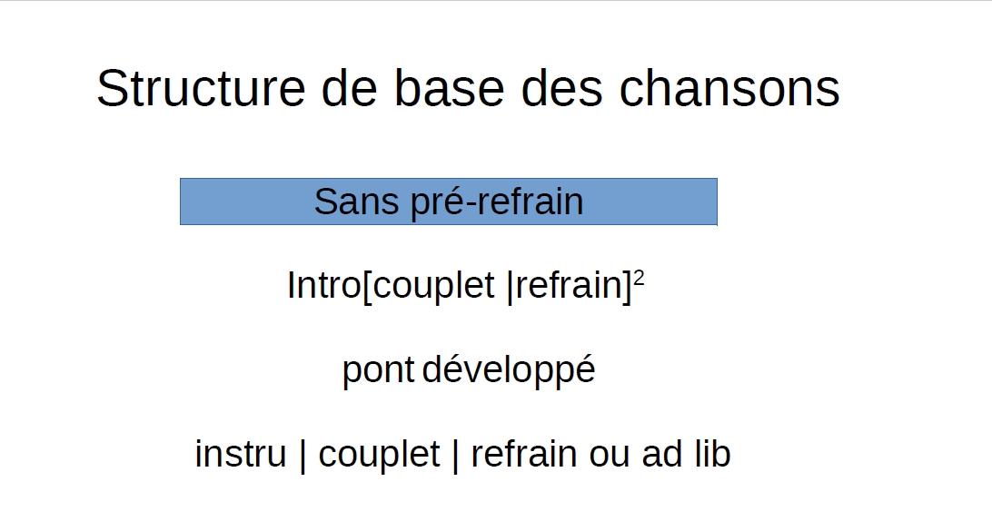 Structure de base sans pré-refrain